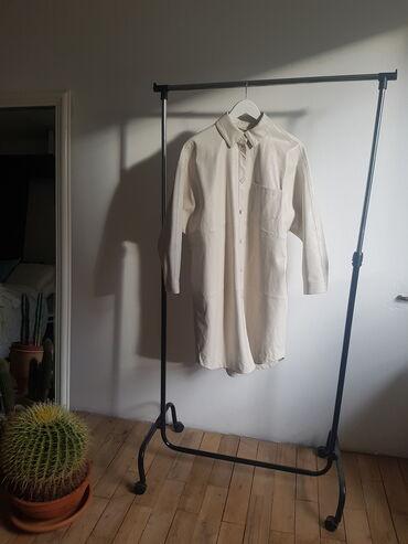 Kišni kaputi - Srbija: Zara kozni mantil / haljina ( zavisi kako ga stilizujete ) M
