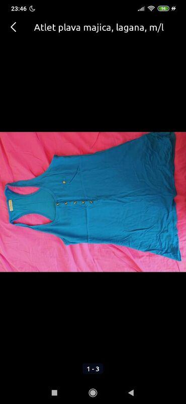 Majice komad 300din!plava atlet(m-l), plava kratki rukav nova (m)