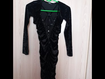 Платье черное, турецкое. Размер 44. До колена. Состояние отличное. в Бишкек
