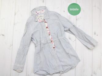 Длинная детская рубашка в полоску H&M Длина: 46 см Ширина плеч: 2