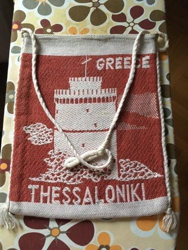 Grčka folklorna torba kupljena kao suvenir, ručni rad, radjena u - Belgrade