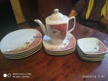 Посуда в Ак-Джол: Посуда набор:Тарелки большие-10шт Средние-10шт Маленькие -10штПиалы-