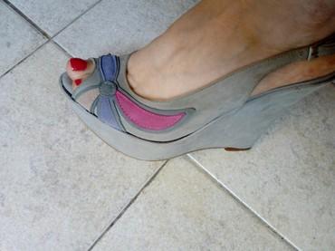 Ženske Sandale i Japanke - Crvenka: Kozne, italijanske sandale br. 39 . Kalup je manji pa odgovara nasem