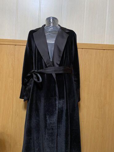 Платье пиджак из плотного велюра, с подкладом. Размер L. 44-46