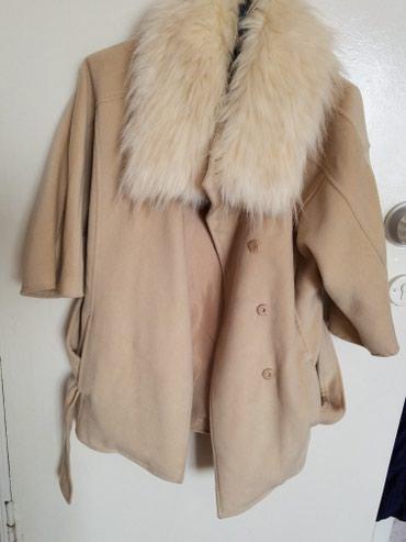 Пальто, деми размер s-ка,воротник снимается