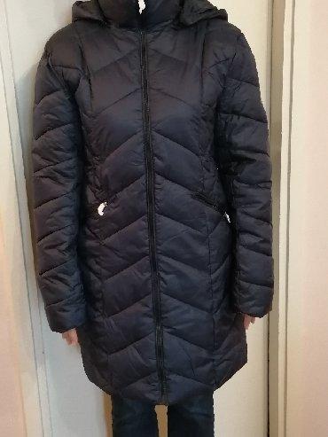Zenski stofani vuneni mantic tsmno braon - Srbija: Champion, nova, zenska, duga jakna. Teget boje 44 velicina. Duzina