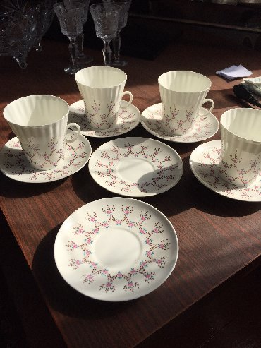 чашка с блюдцем в Кыргызстан: Сервиз чашки с блюдцами лфз костяной фарфор чайные пары