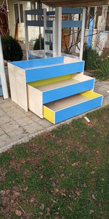 Детская мебель - Состояние: Новый - Бишкек: КРОВАТЬПродаю НОВУЮ трехярусную кровать!!!!БЕЗ МАТРАСОВДля детских