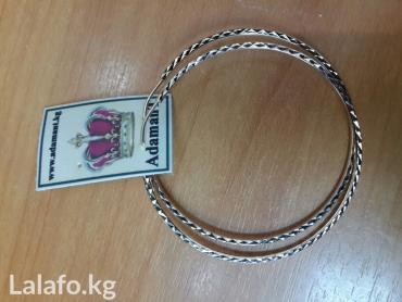 Серьги среднего диаметра с алмазной гранью в Бишкек