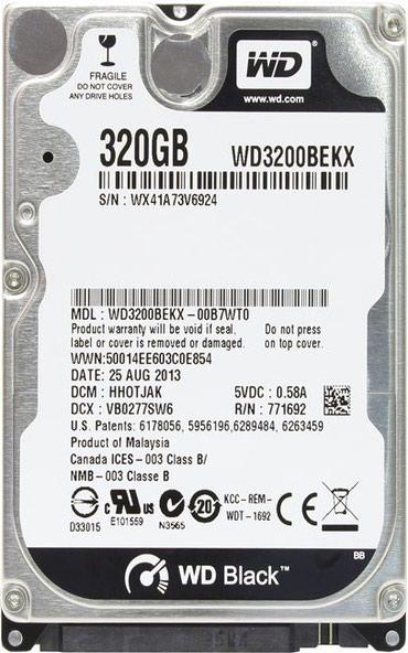 """жесткие диски hdd для непрерывного доступа корпоративные в Кыргызстан: Жесткий диск WD Scorpio Black 320 ГБформ-фактор 2.5""""; тип: HDD;"""