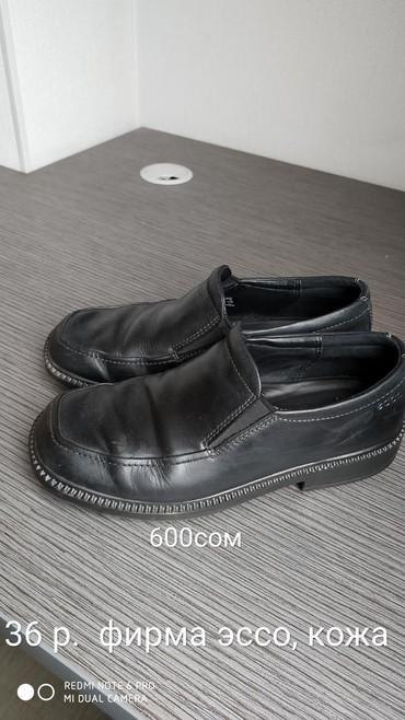 спортивную обувь ecco в Кыргызстан: Очень качественные кожаные туфли, фирмы ECCO, размер 36