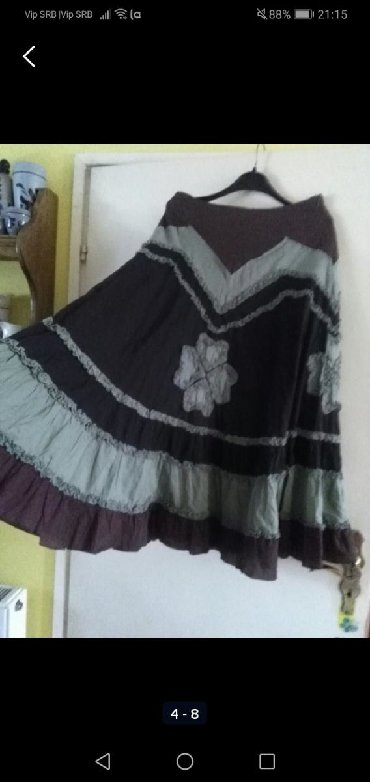 Suknja prelepa, maslinasto smeđa