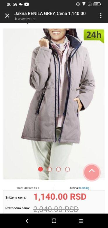 Tanja zenska jakna, nova samo probana. Ne odgovara velicina. Naznačena