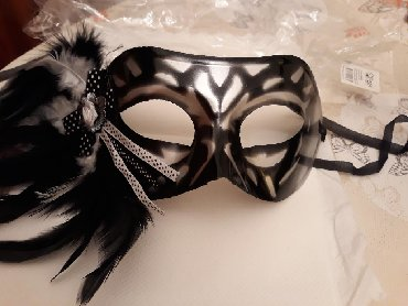 Маски, очки - Азербайджан: Маскарадная маска женская. Новая. Куплена в Бразилии