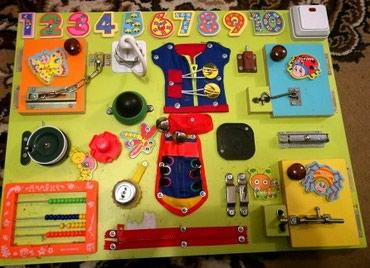 развивайка бизиборд в Кыргызстан: Бизиборд в отличном состоянии очень нужная и увлекательная игрушка