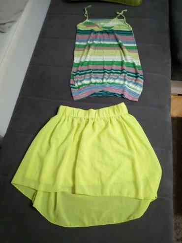 Suknja i majica Bershka  suknja L,;duzina 51 cm nazad,napred je kraca  - Nis