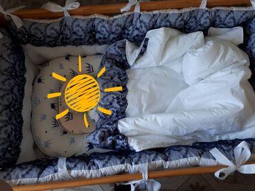 хб платье в Кыргызстан: Бортики+гнездо+одеяло конверт+простыня в отличном состоянии