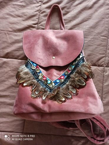 Backpack boho ροζ μια φορά κρατημενο χωρίς φθορες