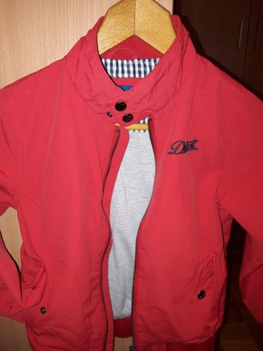 OVS jesenja jakna za dečake,šuškava,sa postavom,vel.7-8,128cm,u - Crvenka