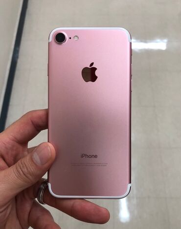 Iphone 7 with screen protective film Color pink 32GB