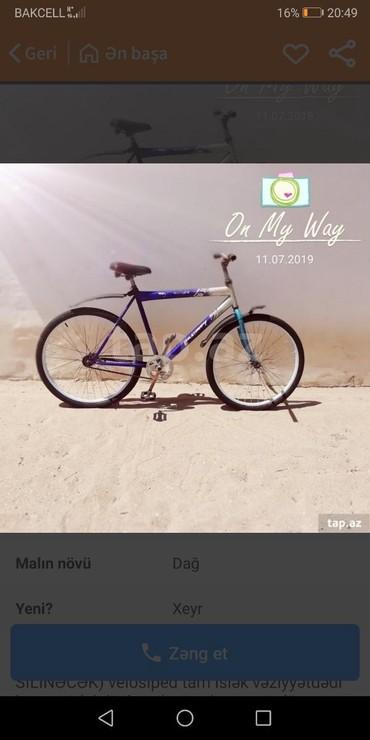 Bakı şəhərində Salam velosiped 26 lıqdı əla velosipedi otur sürdü real alıcıya