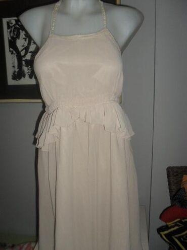 ZARA haljina M SNIŽENALagana letnja bež haljinaleđa potpuno