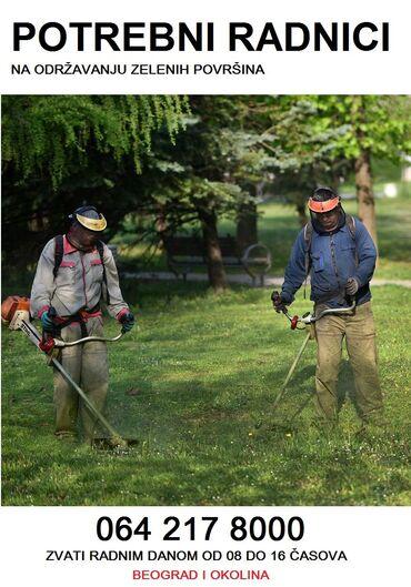 Nk-radnici - Srbija: Potrebni radnici na održavanju zelenih površina, 064/21-78-000