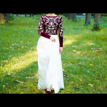 Дизайнерское платье в национальном стиле на Кыз узатуу. Одевалось один