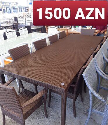 Bağ mebeli - Azərbaycan: Bag ucun On neferlik dest Hesir