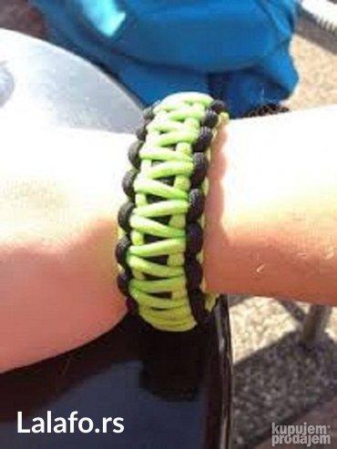 Paracord narukvica za preživljavanje bracelet narukvica flou green - Bela Crkva