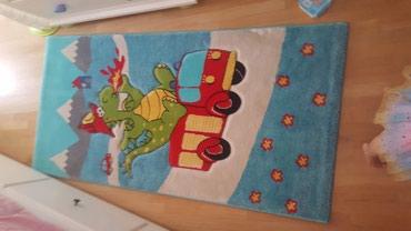 Tepih za deciju sobu, dimenzije 80x160cm, kao nov, skoro ne gazen, bio - Belgrade