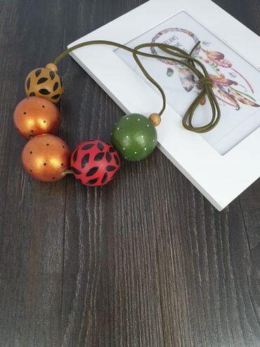 Peci na drva - Srbija: Ogrlice od drvenih perli.Instagram : Vila_art_nakitFB : Vila