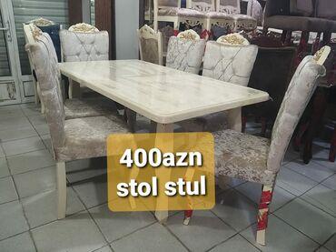 masa və stul - Azərbaycan: Stol və stullar Yəni Stol açılan və 18lik mdf-dir üzəri maşın