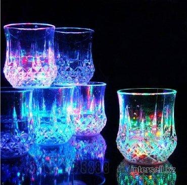 """Стеклянные стаканы - Кыргызстан: Светящийся стакан """"RAINBOW COLOR CUP"""" Чудо-стакан светится и"""