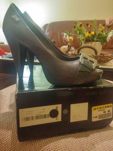 Miss sixty - Srbija: Miss sixty cipele br. 39. Kao nove. Kožne, imaju malo zakacenu stiklu