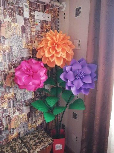 флорариумы на в Кыргызстан: Большой цветок из изолона  на офис и на дом