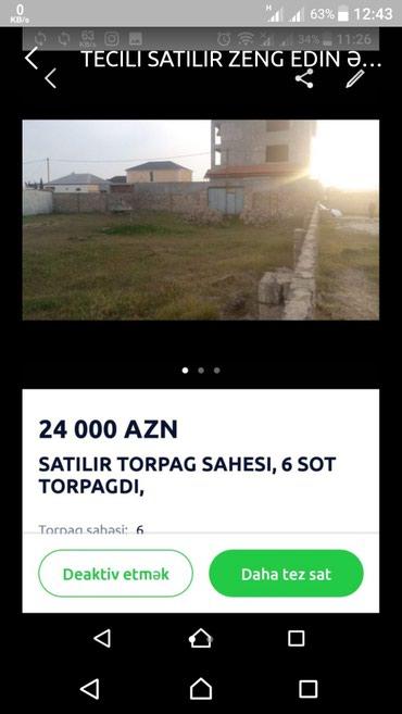 Bakı şəhərində Hovsan 6 sot torpaq sahesi, 24,000 azn