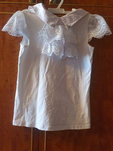 блузки для школы в Кыргызстан: Школьная блузка,ворот можно отсегнуть