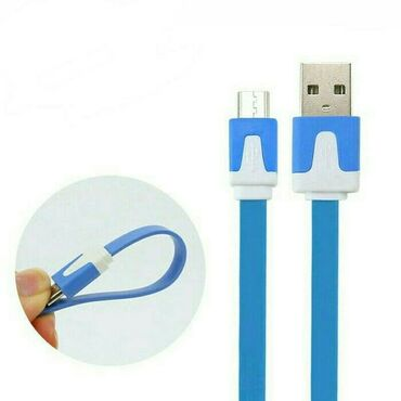USB kabel əriştə, eriwte 1 metr. Зарядной кабель лапша micro usb cable