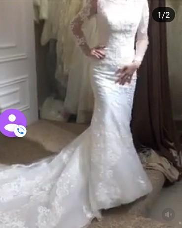 Свадебное платье рыбка .размер 42 ,сидит классно по фигуре в Бишкек