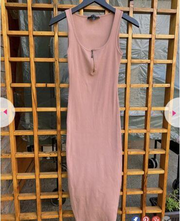 Duga haljina - Srbija: Dugacka letnja roza haljinica u M velicini. Nosena dva puta. Stanje pe