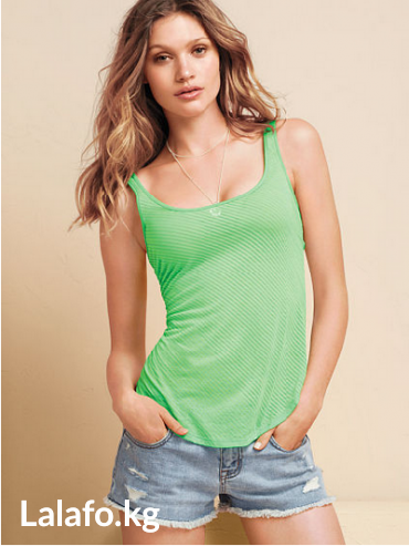 Victoria's secret burnout tank top. майка. цвет green grove в Бишкек