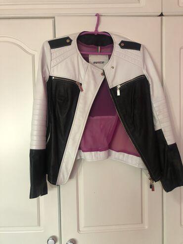 Crno bela kozna jakna italijanske marke Flo Clo. velicina 40