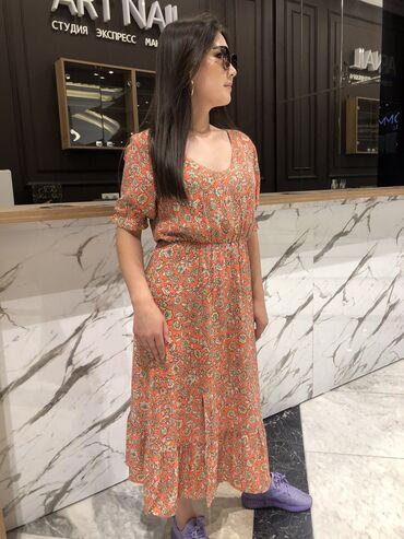 Продаю новые вещи Штапельное платье кораллового цвета размеры м и с 85