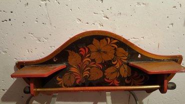 полочка деревянная с росписью  под хохлому длина 55см в Бишкек