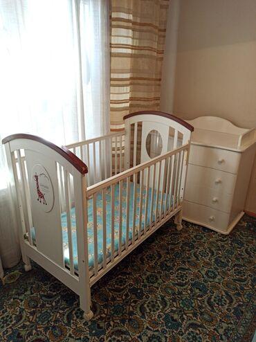 биндеры 120 листов компактные в Кыргызстан: Продаю мебель для новорожденного б/укровать и комод в комплектекровать