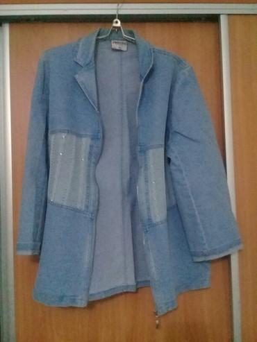 синий пиджак женский в Кыргызстан: Джинсовый пиджак, на замочке, 400 сом