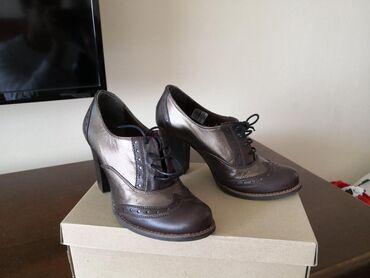 Ženska obuća | Cacak: Zlatno braon cipele, broj 37,NOVO. Kožne kvalitetne cipele, interesant
