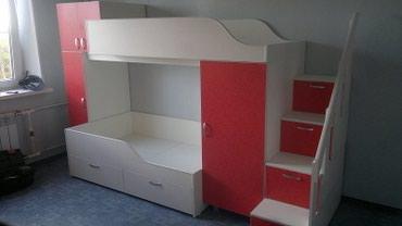 Двухъярусный кровать+2 шкафа+ комод в Бишкек