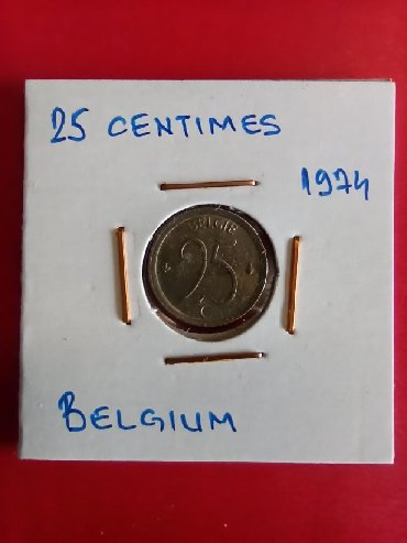 Kovanica 25 centimesa Belgija
